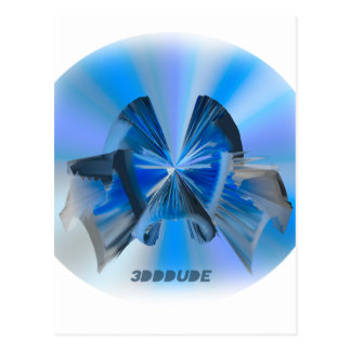 fascinator every day wear 3D DDD effects Postcard