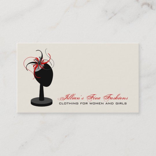 Fascinator Hat Stand Clothing Store Boutique Business Card Zazzle