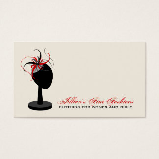 Fascinator Hat Stand Clothing Store Boutique Business Card