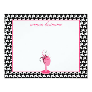 Fascinator & Hat Stand Houndstooth Flat Notecards
