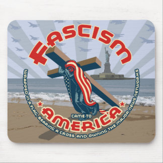 Fascism Came Wrapped Mouse Pad