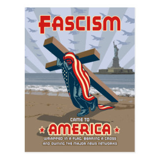 Fascism Came Wrapped Postcard