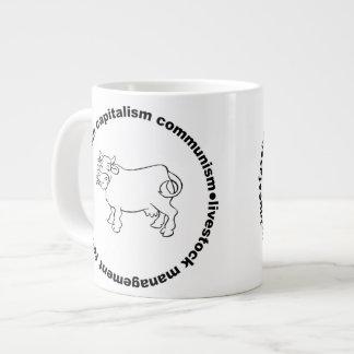 Fascism Capitalism Communism Livestock Management Large Coffee Mug
