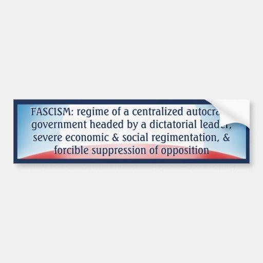 Fascism Definition Bumper Sticker Zazzle