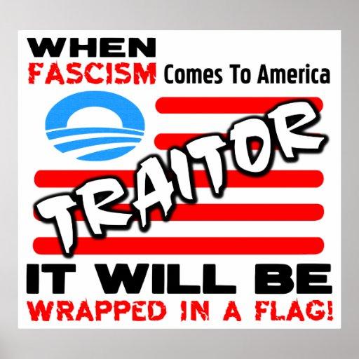 Fascism In A Flag! Print