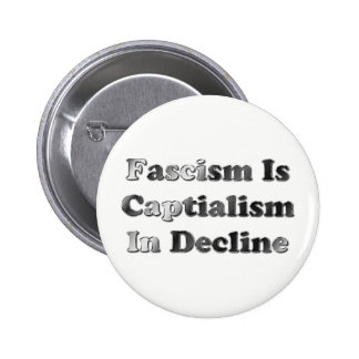 Fascism Is Capitalism In Decline Pinback Button
