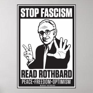 Fascismo de la parada Lea la impresión de Rothbar Poster