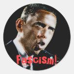 ¡Fascismo! Etiqueta Redonda