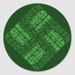 Fascismo verde pegatinas redondas