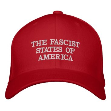 "USA Themed Fascist USA Red ""Trump Hat"" Embroidered Baseball Hat"