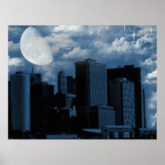Fase de la luna póster