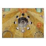 Fases de la luna, 'del atlas celestial tarjeta de felicitación
