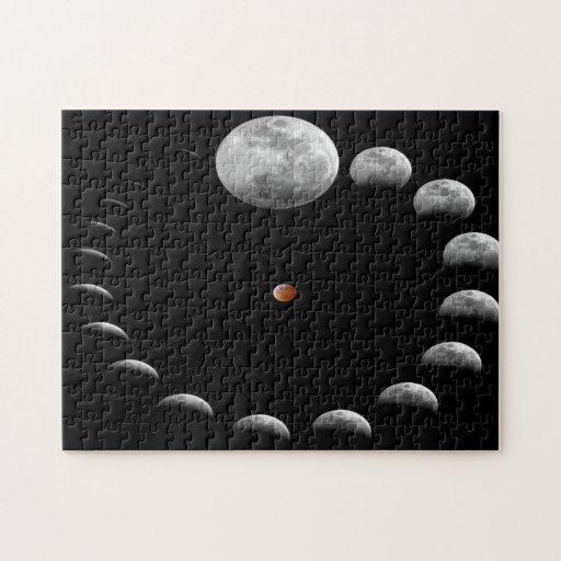 Fases de la luna rompecabezas