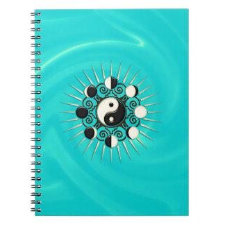 Fases de la luna, Sun y Yin Yang - polaridad y dua Cuaderno