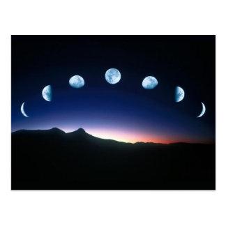 Fases de la luna tarjetas postales