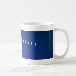 Fases de la luna taza básica blanca