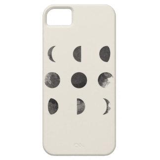 Fases del arte lunar de la acuarela de la luna iPhone 5 carcasas