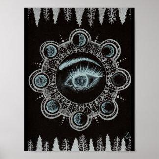 Fases del ojo de la luna póster