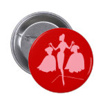 Fashiion Silhouette Pinback Buttons
