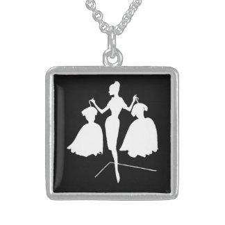 Fashiion Silhouette Sterling Silver Necklace
