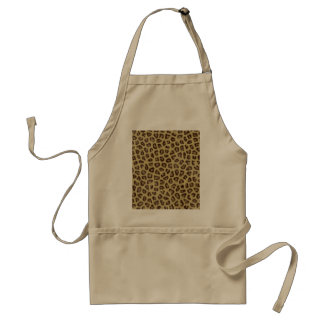 Fashinable leopard skin fluffy fur effect adult apron