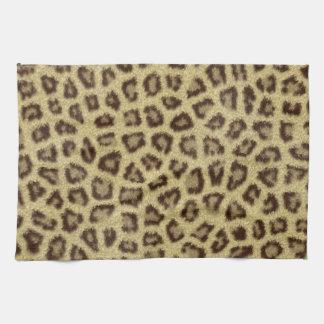 Fashinable leopard skin fluffy fur effect towels
