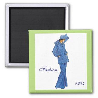 Fashion 1934 Magnet Magnet