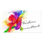 Fashion  Abstract Lorikeet Paint Splatter Business Card Template