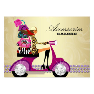 Fashion Accessories Purses Jewelry Purple Gold Large Business Card