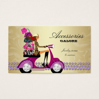 Fashion Accessories Purses Jewelry Purple Gold Reg Business Card