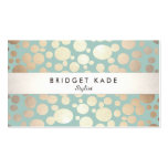 Fashion and Beauty Gold Turquoise Circle Pattern Business Card