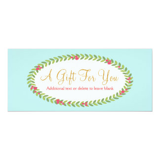 Fashion and Beauty Holiday Gift Certificate Personalized Invites