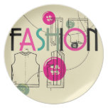 Fashion and Button and Thread Party Plates