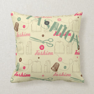 Fashion and Button and Thread Pillow