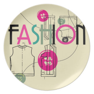 Fashion and Button and Thread Dinner Plates