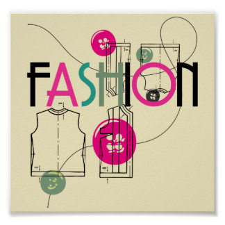 Fashion and Button and Thread Poster