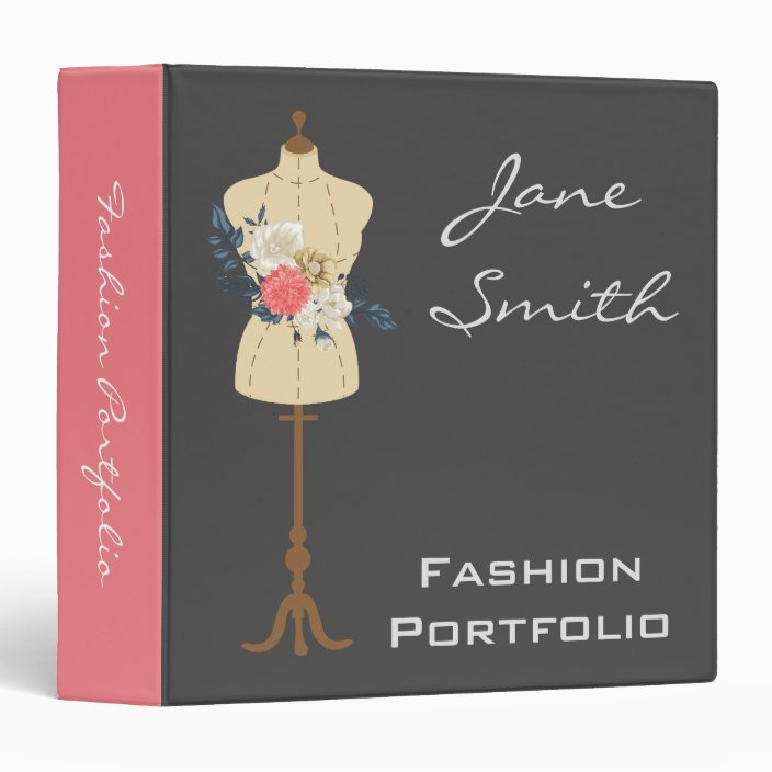 Fashion And Design Professional Portfolio Folder Zazzle Com