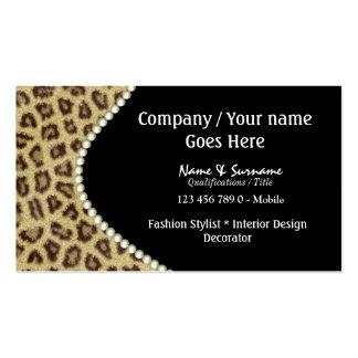 Fashion animal fur spots business card