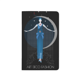 Fashion art deco elegant stylish illustration journal