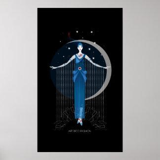 Fashion art deco elegant stylish illustration poster