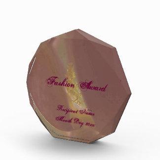 Fashion Award magnolia & beautiful burgundy text.