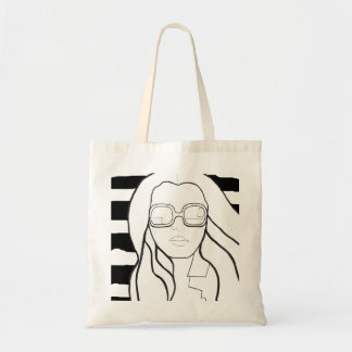 Fashion bag black and white stripes