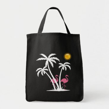 Beach Themed Fashion Beach Flamingo Theme Tote Bag