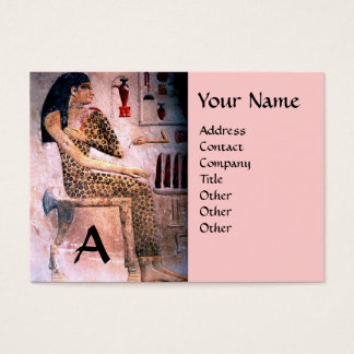 FASHION & BEAUTY OF ANTIQUE EGYPT MONOGRAM pink Business Card