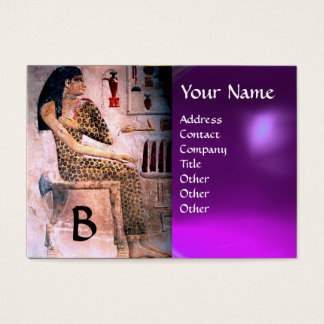 FASHION & BEAUTY OF ANTIQUE EGYPT MONOGRAM purple Business Card