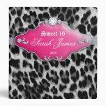 Fashion Binder Portfolio Leopard Sweet 16