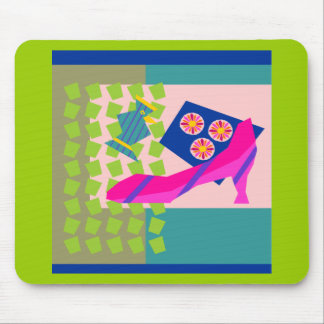 Fashion Bird with High Heel Mouse Pads