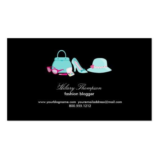 Fashion blogger calling cards zazzle for Business cards for bloggers