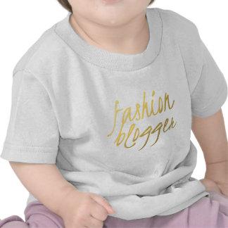 Fashion Blogger - Gold Script Tee Shirts