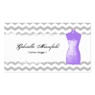 Fashion Blogger Purple Contact Business Cards